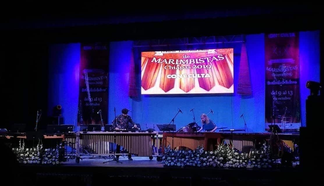 Closing concert of the Festival de Marimbistas Chiapas, Mexico